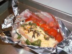 ffwd - salmon and tomatoes en papillote