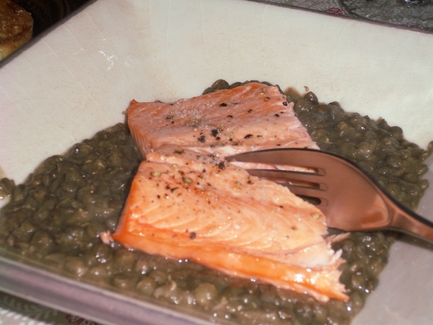 ffwd – roasted salmon andlentils