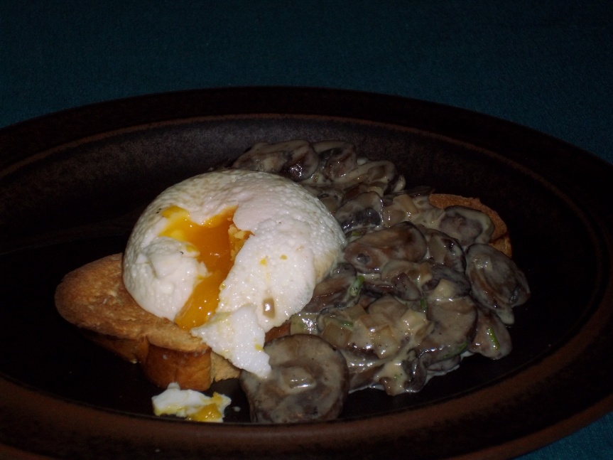 ffwd – creamy mushrooms and eggs