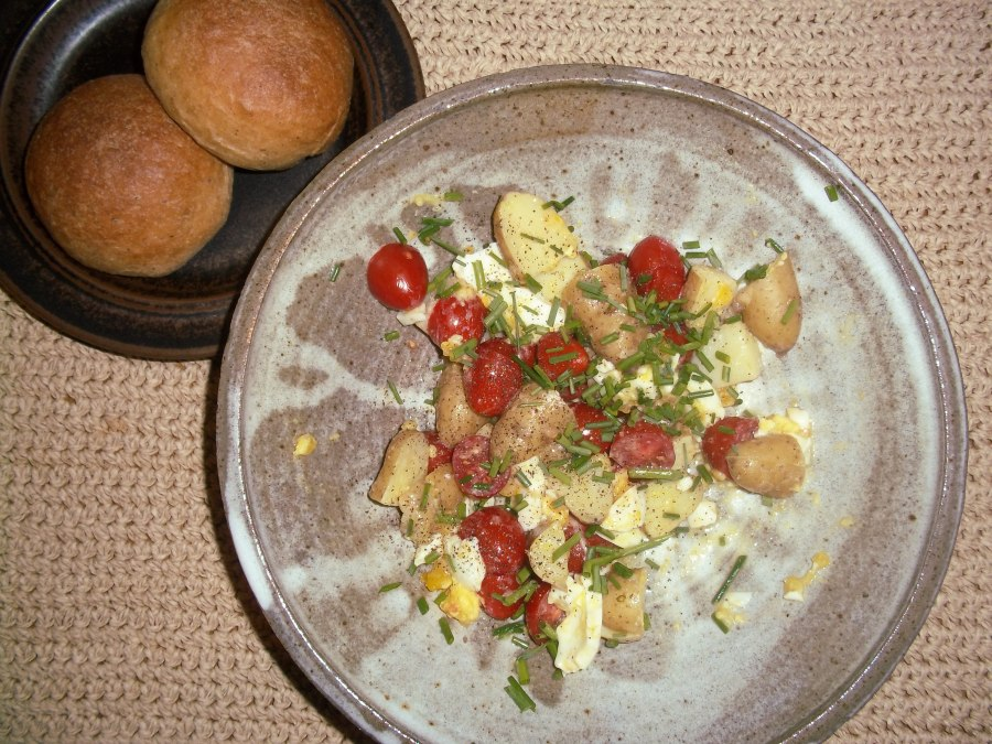 CCC – It's June! tomatoes, potatoes, eggs and herbs