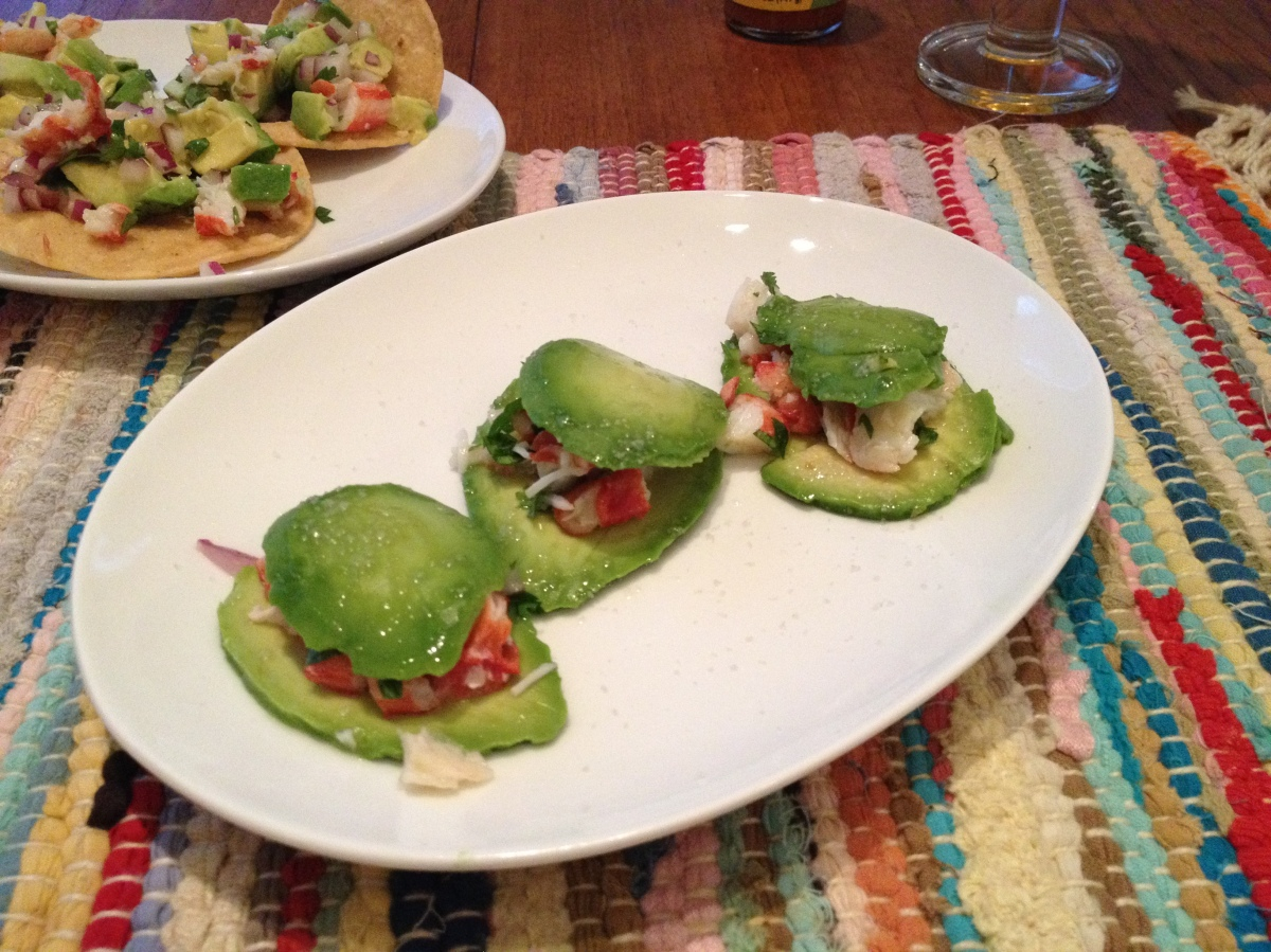 ffwd - avocado-crab ravioli