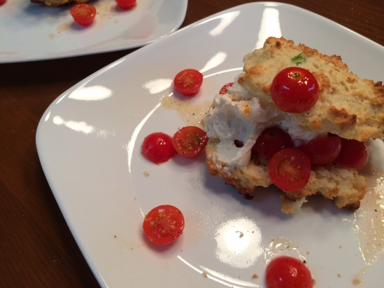 Smitten Kitchen's tomato scallion shortcakes