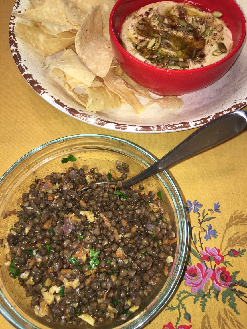 CtBF – lentil salad (and a hummus make-up)