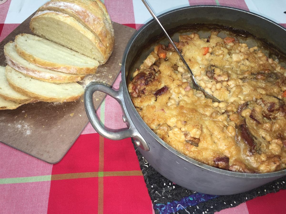 CtBF - White bean, sausage and duck confit casserole, aka Cassoulet