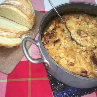 CtBF - White bean, sausage and duck confit casserole, aka Cassoulet